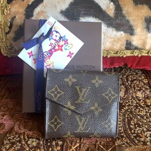 Authentic Louis Vuitton trifold monogram wallet